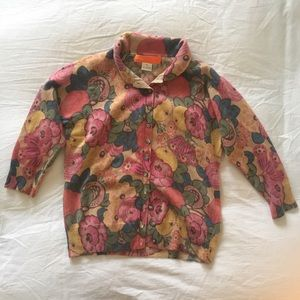 Cynthia Steffe floral cashmere sweater